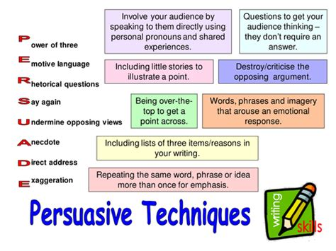 Persuasive Techniques Essay by Persuasive Techniques Lessons And Activities By Steffih Teaching Resources Tes