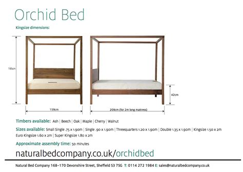 Bed Height by Orchid Four Poster Bed Solid Wood Bed Company