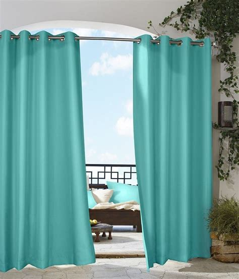 commonwealth outdoor curtains commonwealth gazebo outdoor curtains aqua 70315 109 631