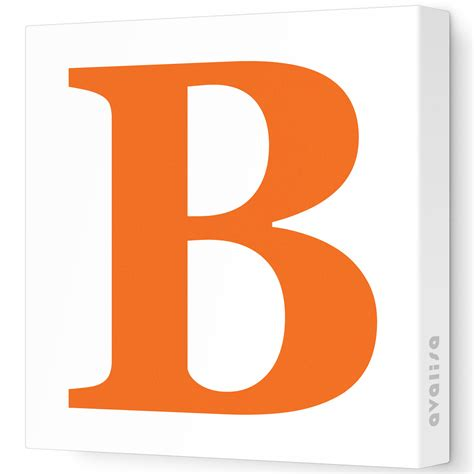 the b letter b stretched wall art