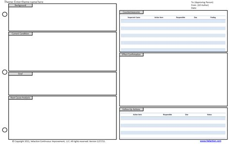 a3 report template a3 templates free available velaction