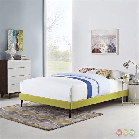 upholstered bed frame full sherry upholstered fabric full platform bed frame wheatgrass