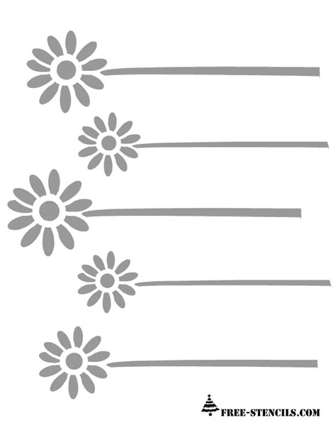 free stencil template free printable floral patterns stencils
