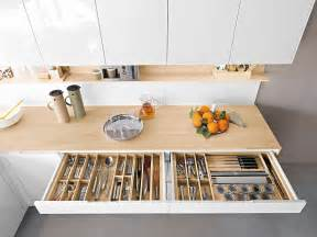 Space Saving Kitchen Designs by Contemporary Italian Kitchen Offers Functional Storage
