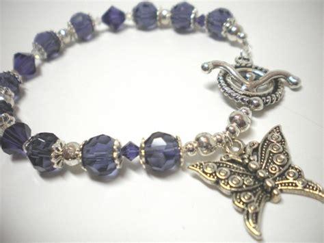 purple lupus awareness butterfly bracelet