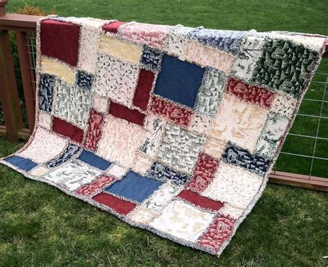 Easy Rag Quilt Patterns by Rag Quilt 30s Prints Jellyroll Quilt Pattern Http