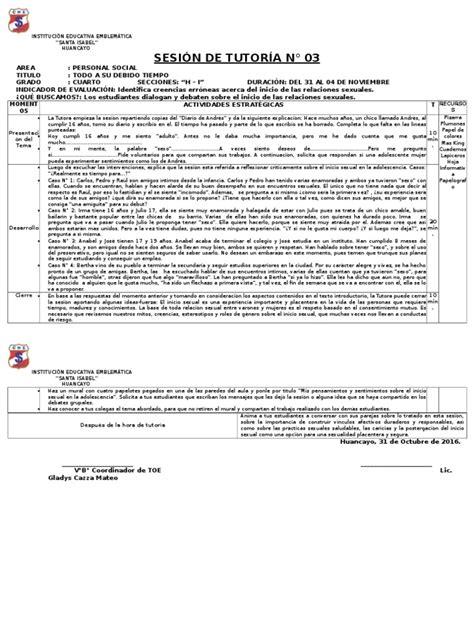 sesion de tutoria la asertividad documents sesi 211 n de tutor 205 a