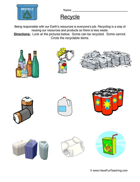 Recycle Worksheets by Search Results For Math Worksheets For Year