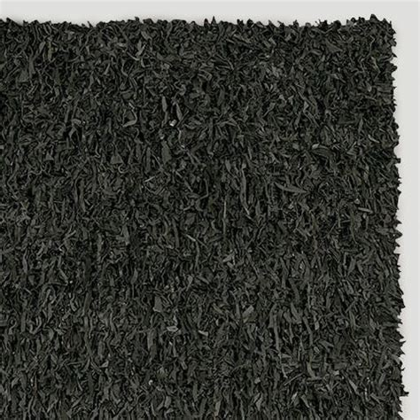 black leather shag rug leather shag rug black world market