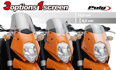 Fly To Ktm Fly Screen Puig Ktm 950 Supermoto Superenduro Black Ebay