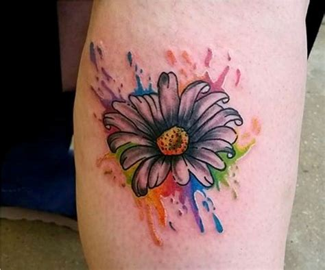 watercolor daisy tattoo 50 tattoos tattoofanblog