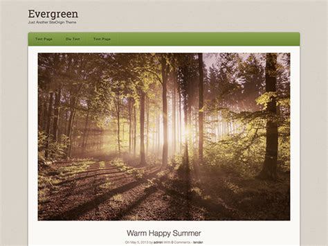 wordpress theme origami free origami evergreen free wordpress theme