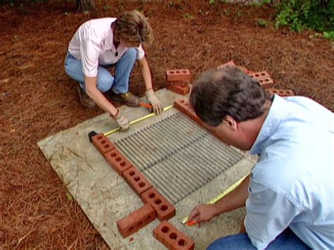 build  brick barbecue  tos diy