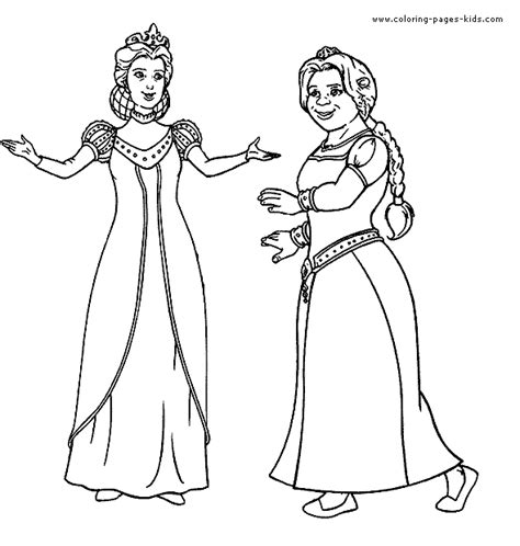coloring pages of princess fiona shrek color page color pages printable