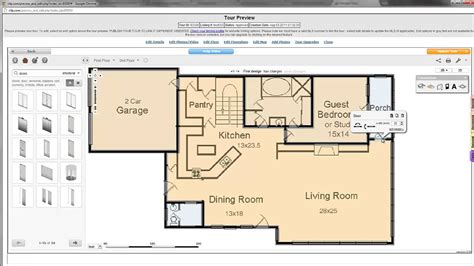 create floor plans online draw a floor plan youtube
