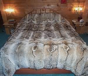 Area Rugs 6 X 8 Glacier Wear Coyote Fur Comforter For Sale