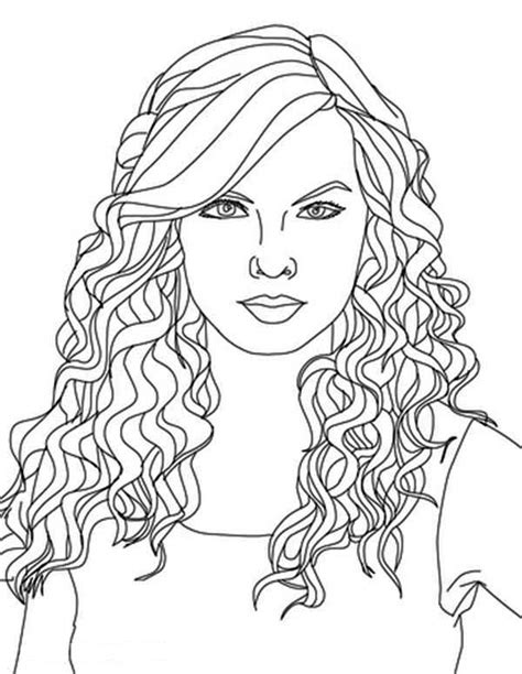 taylor swift taylor swift curly hair coloring coloring 2 taylor swift
