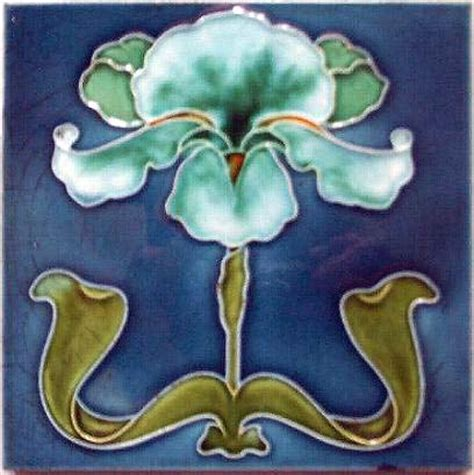 painting on ceramic tile craft art nouveau ceramic tiles images
