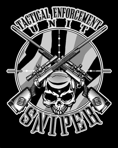 Gildan Custom Graphic Tshirt Marine Pirate Flag tactical enforcement unit sniper on mens sleeve t