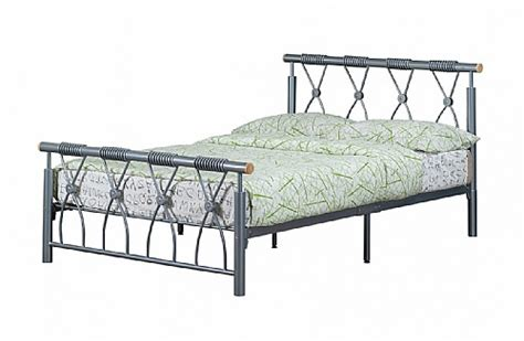 Julian Bowen Aztec Bed Frame Beds For Everyone Chrome Silver Nickel