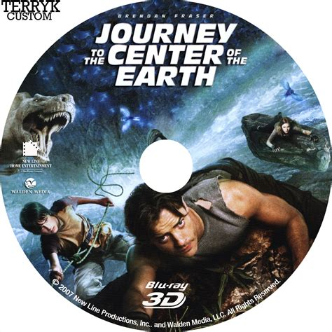 Journey To The Black journey to the center of the earth 3d dvd label