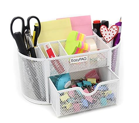 Easypag Cute Desk Accessories Organizer 9 Components Stylish Desk Organizers
