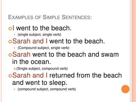 basic sentence pattern with meaning and exles simple complex compound sentences