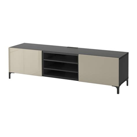 besta unit best 197 tv unit with drawers black brown selsviken high