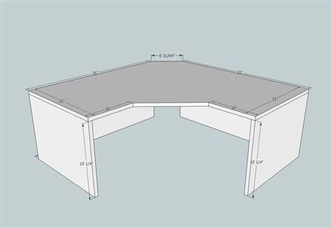Corner Desk Plans That Save Space Woodworking Projects Corner Desk Blueprints