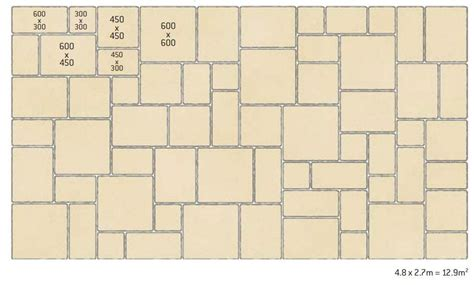 Patio Laying Patterns 4 Sizes by Patio Layout Guides