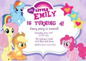my little pony birthday party invitations amazing