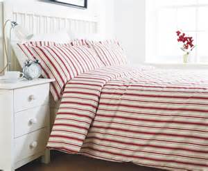 Details about red stripe bedding double duvet cover set