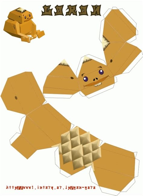 Nintendo Papercraft Templates - paper craft goron nintendo papercraft the