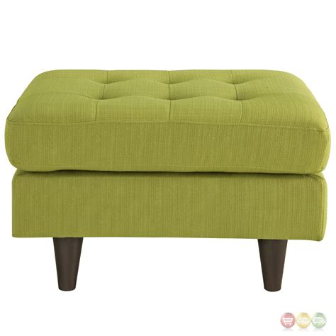 button ottoman empress upholstered ottoman with button tufted accents