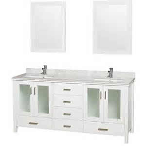 Bathroom Vanity 72 Inch Wyndham Collection Wcvms1572dwhcmunsm24 72 Inch Bathroom Vanity In White White