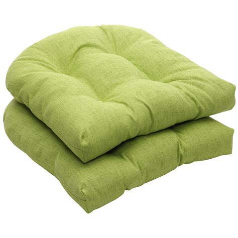 pillow perfect indooroutdoor green textured solid wicker seat cushions  pack ebay