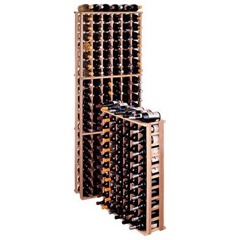 redwood modular wine rack kit 66 bottle reduced height