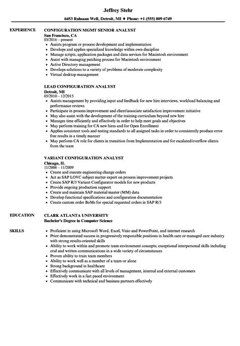 Configuration Management Analyst Sle Resume by Resume Cover Letter Retail Position Resume Cover Letter Within Same Company Resume Cover Letter