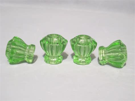 green glass door knobs vintage pale green glass knobs set of 4 antique by