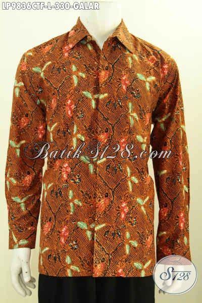 Kemeja Batik Klasik Lengan Panjang jual kemeja batik klasik motif galar hem batik elegan lengan panjang furing pria til