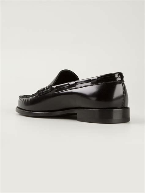 stud loafers laurent studded loafers in black for lyst