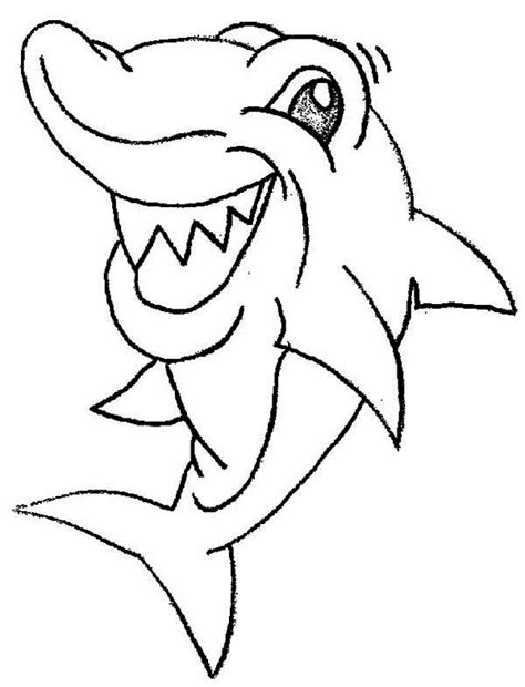 funny shark coloring page this shark is seeing something funny coloring page kids