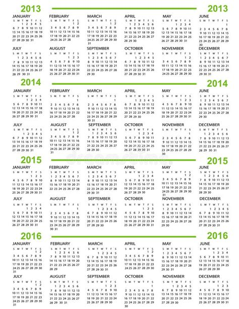 new year 2015 timetable calendar new year 2013 2014 2015 2016 stock images