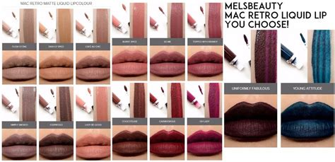 Mac Retro Matte Liquid Lip Color mac retro matte liquid lip color 2017 you choose