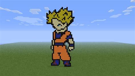 imagenes de goku en minecraft goku songoku minecraft project
