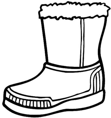 winter boots coloring pages and coloring on pinterest