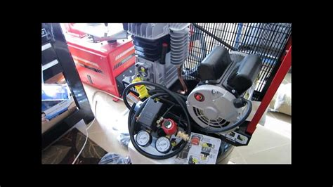 harbor freight 29 gallon cast iron air compressor 68127 unboxing part 1