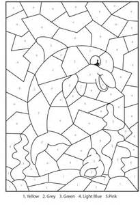 printable color by number coloring pages free printable dolphin colour by numbers