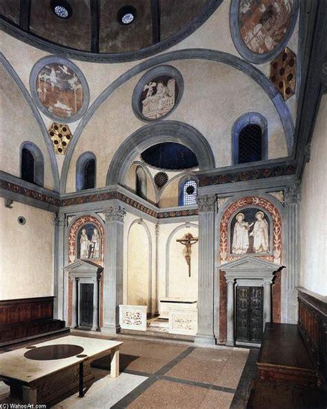 Baroque Interior Vieille Sacristie 1418 De Filippo Brunelleschi 1377 1446