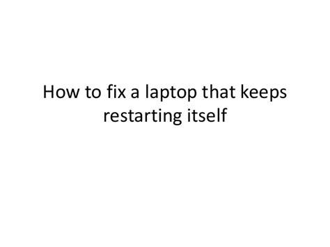 fix  laptop   restarting